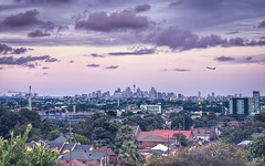 Sydney from Arncliffe (Sarmu) Tags: city light sunset wallpaper urban building tower skyline architecture night skyscraper plane lights highresolution downtown cityscape view skyscrapers nightshot widescreen sydney australia landmark icon 1600 nsw highdefinition resolution newsouthwales 1200 cbd hd wallpapers iconic hdr 1920 vantage vantagepoint ws sydneytower 1080 1050 arncliffe 720p 1080p urbanity 2011 1680 720 2560 towerplace sarmu towerpl