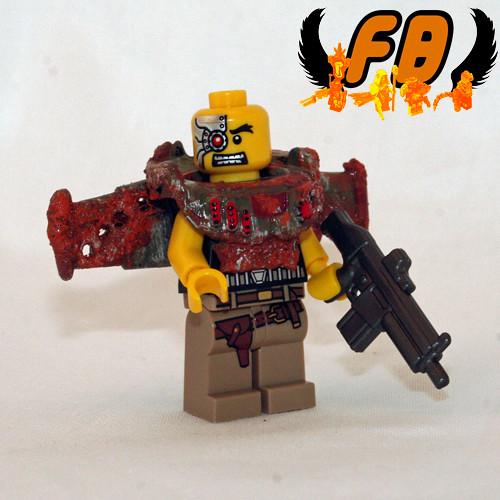 Custom minifig Outlyer - Flight Officer Cyborg Unit