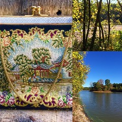 This vintage tapestry bag belongs in a beautiful setting🌳👒 #standoutstyle #tapestrybag #prettylady #vintageshop #vintagebags #etsysellers #etsyvintageshop #giftsforher #1950sfashion #vintageclothing #retrofashion #retrogirl #rust (janet_colwell) Tags: instagramapp square squareformat iphoneography uploaded:by=instagram vintagehandbags vintagepurses retrofashion