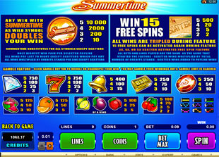 free Summertime slot mini symbol