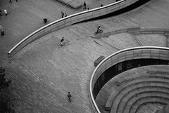 DSC03995 (Flintafus) Tags: people urban bw white black london public bike thames mayor small curves helmet johnson ken bikes aerial tiny cycle boris offices 2010 abtract livingstone the lilliputian ldn