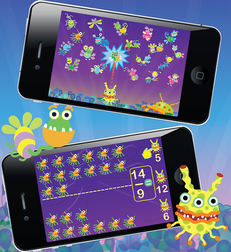 New iPhone App for Kids - BugMath!