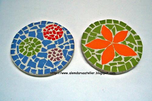 porta -copos em mosaico