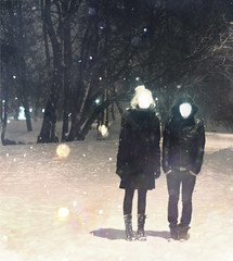 inanition (Phixo) Tags: birthday winter light snow me night self nikon couple odd faceless 365 1365 phixo kadrisammel
