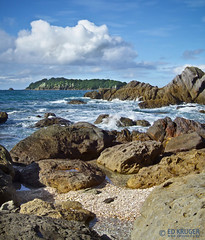 Moturiki Island (Ed Kruger) Tags: ocean blue sea newzealand sky white green water clouds island mt pacific wave aotearoa tauranga bayofplenty maunganui mountmaunganui edkruger maturiki