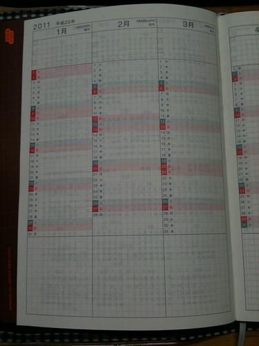 ほぼ日手帳 年間インデックス
