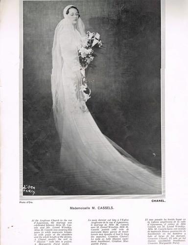 Mariette vanSteenwyk Cassels featured in L'Officiel in her Chanel wedding gown