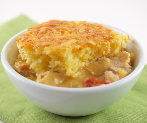 Cornbread Topped Turkey and Greene Chili Casserole