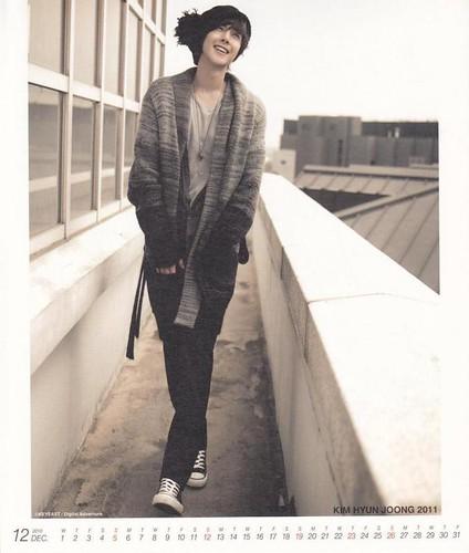 Kim Hyun Joong 2011 Calendar December 1