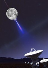 VLA apuntando a la Luna