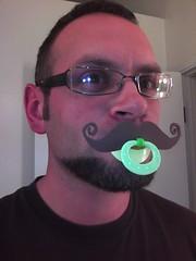 Pacifier mustache