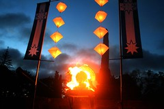 Burning effigy of Julia Gillard - Eureka Dawn Vigil, Dec 3, 2010