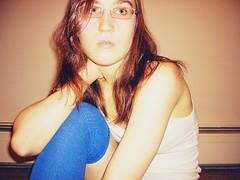 185.365 (kattra) Tags: blue selfportrait vancouver glasses december apartment bodylanguage 365 otksocks