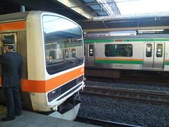 しもうさ号1番列車大宮到着