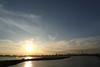 港湾都市の夕暮れ