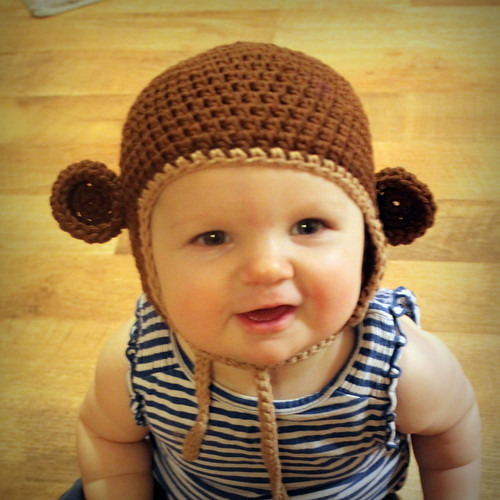 5236610820 1d391dab21 Free Crochet Pattern   Monkey Hat