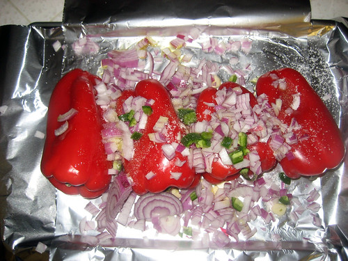 Red Peppers in foil