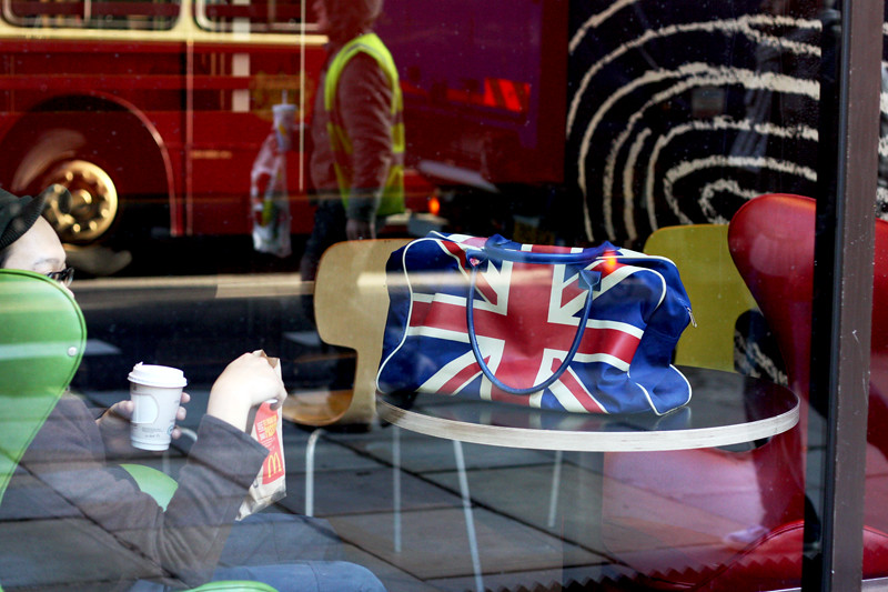 London - coffee and Union Jack