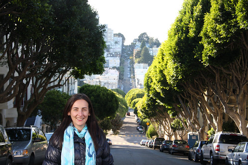 Marga and Lombard Street, San Francisco