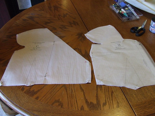 Muslin cut out - Crepe Sew Along