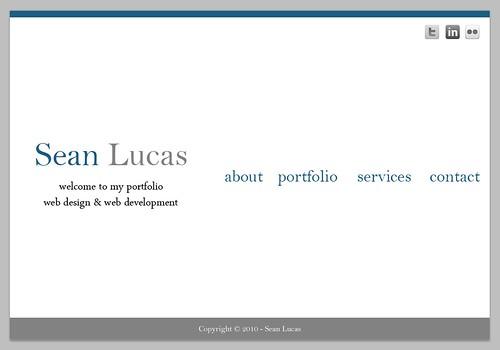 Portfolio Concept for seanlucas.com