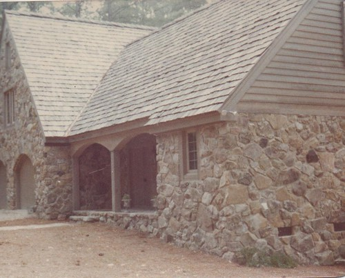 finished house made entirely of stone in Kightdale, North Carolina from front