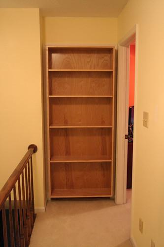 new hallway bookshelf