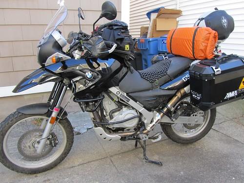 Dachary's bike packed to go.