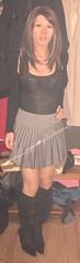 Pleated Skirt and Boots (MissMajaRyan) Tags: ryan maja