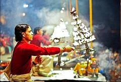 Terror may Strike or  Heaven may fall,  Prayer for Ganga will be Performed. (Sunciti _ Sundaram's Images + Messages) Tags: travel india river holy varanasi terror 1001nights hindu ganga bestshot kasi bombblast ganger 10faves 5photosaday beautifulexpression aplusphoto agradephoto brillianteyejewel rubyphotographer mallimixstaraward artofimages winklerians celremony