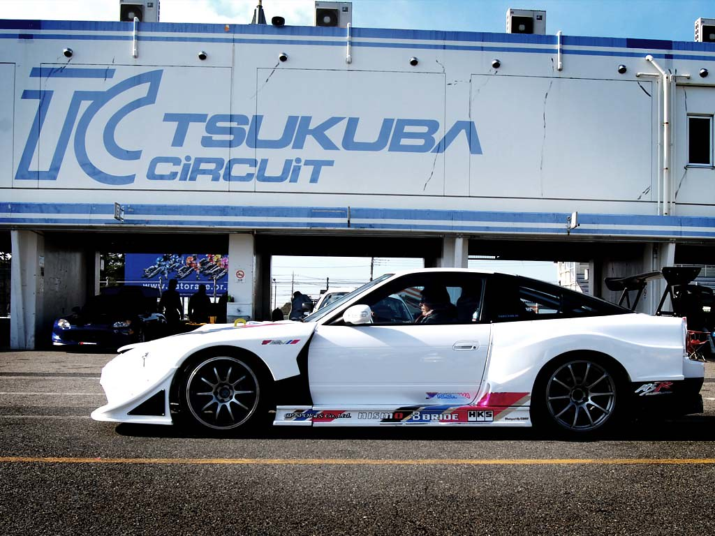 S13 in pits with Tsukuba sign