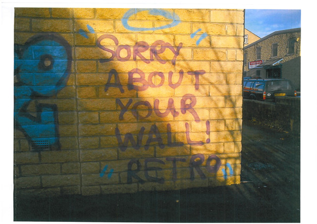 Keighley school wall by West Yorkshire Police Graffiti Alerts