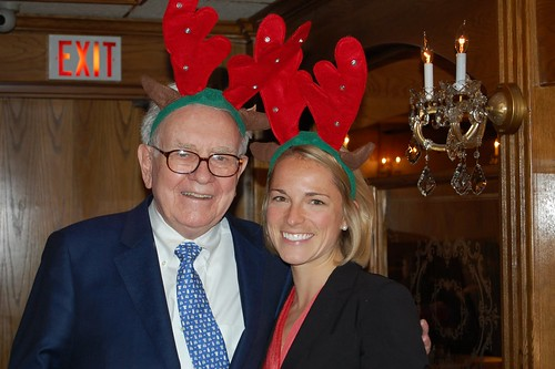 Warren Buffett and BC MBA student Kira Vassar