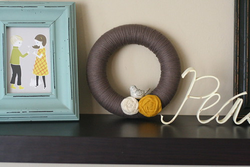 a handmade wreath - in my most favorite colors.