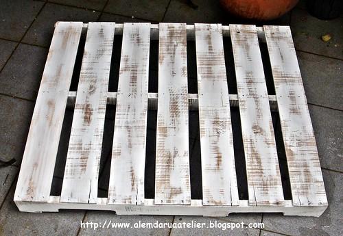 Reciclagem - Pallet em Pátina Envelhecida