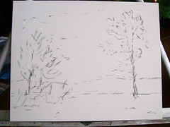 20101211_winter_grasses_step1 (Weekly Sketcher) Tags: winter snow oak pastelpainting altocumulusclouds wintergrasses spearswoods stepbysteppastel