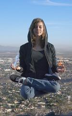 Rachel is God (DanTheBritishMan) Tags: sky mountains ice water landscape fire rachel levitation elements
