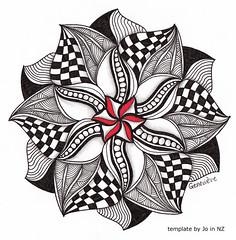 mandala004 (Amaryllis Creations) Tags: mandala penink zentangle