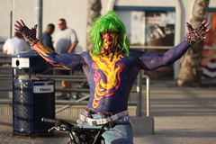 The painted monster (San Diego Shooter) Tags: portrait sandiego streetphotography pacificbeach sandiegopeople sandiegostreetphotography