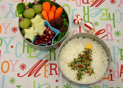 Furikake Christmas Tree Bento