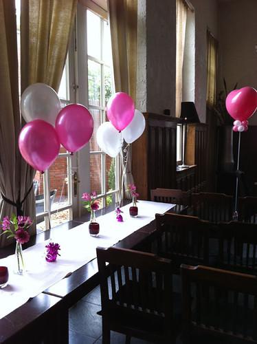 Tafeldecoratie 3ballonnen Koetshuis Rotterdam