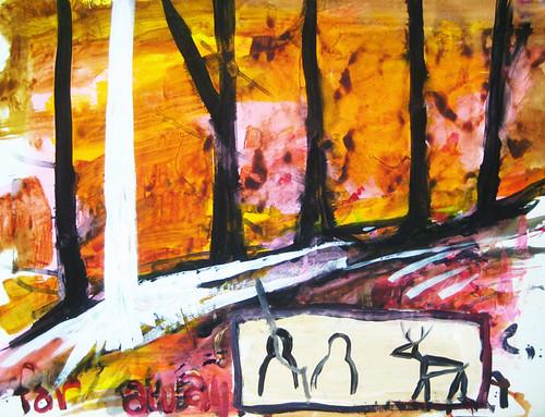 White Tree Deer Tag