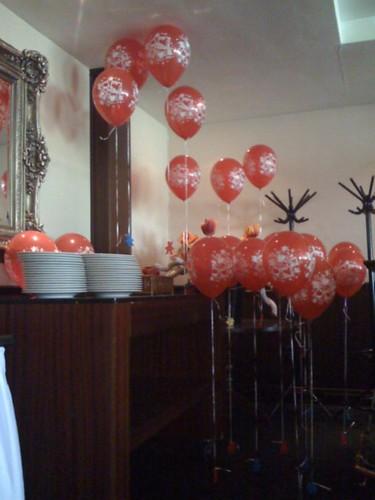 Heliumballonnen Van der Valk Hotel De Gouden Leeuw Voorschoten