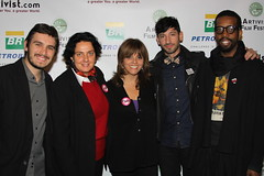 Rodrigo Della Libera, jane valez mitchell, bettina wolff and ngo's Jashua Katcher... (ARTIVIST.com) Tags: film f fest piero artivist giunti nyc2010