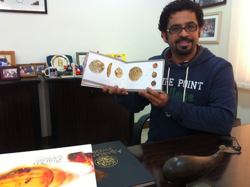 Mohammed Buhasan with his latest book, FUNtastic Bahrain