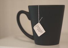 life (~Staci Lee~) Tags: white black cup coffee canon 50mm tea mug