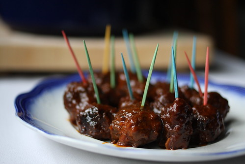 plated meatballs