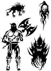HALLOWEEN (Black Crown . tribal) Tags: white black art design tribal tatoo gat