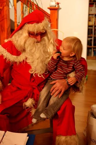 Lassi and Santa