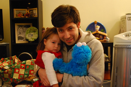 Daddy, Savannah, and Cookie Monster